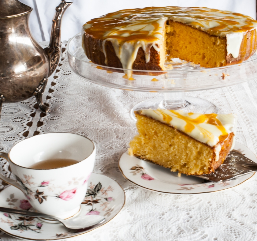 white chocolate and apricot torte