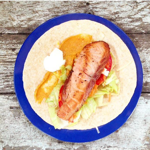 salmon rasher wrap