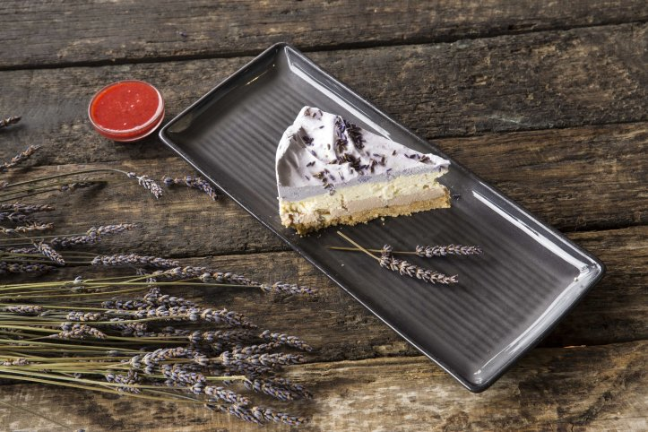 layered-lavender-cheesecake